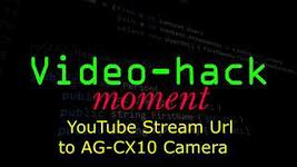 YouTube Stream Url to Panasonic AG-CX10 camera